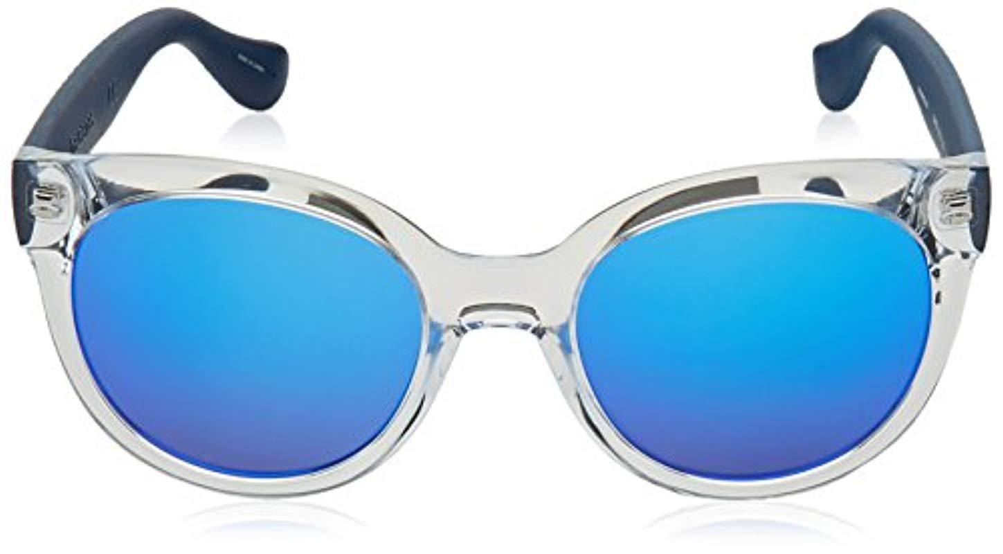 Havaianas Rubber Noronha/m Round Sunglasses in Crystal Blue/Blue Blue (Blue)