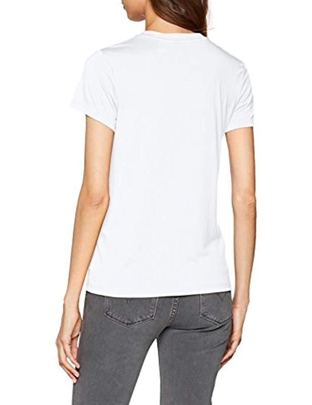 Levi's Synthetik Damen The Perfect Tee T-Shirt in Weiß p0NO8