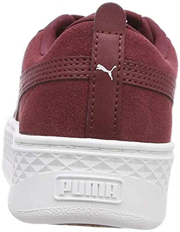 2b278109164 PUMA Smash Platform Sd Low-top Sneakers in Red - Lyst
