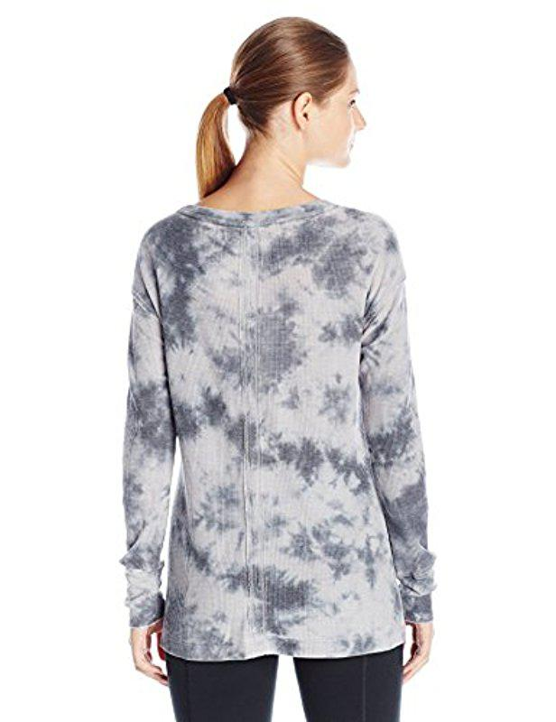 057d2df6a63 Lyst - Calvin Klein Performance Tie Dye Thermal Tunic in Gray