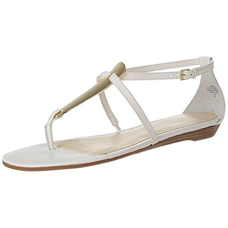 b8223545962c Lyst - Nine West Weslie Women Us 9.5 White Thong Sandal in White ...