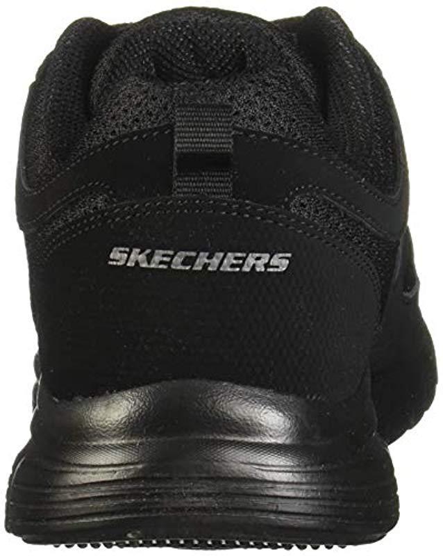 Tóxico balsa Calibre  Skechers Leather Burns 52635-bbk Low-top Sneakers in Black/Black (Black)  for Men - Lyst