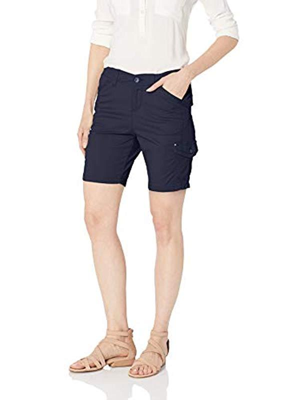 Lee Womens Petite Flex-to-go Relaxed Fit Cargo Bermuda Short Shorts