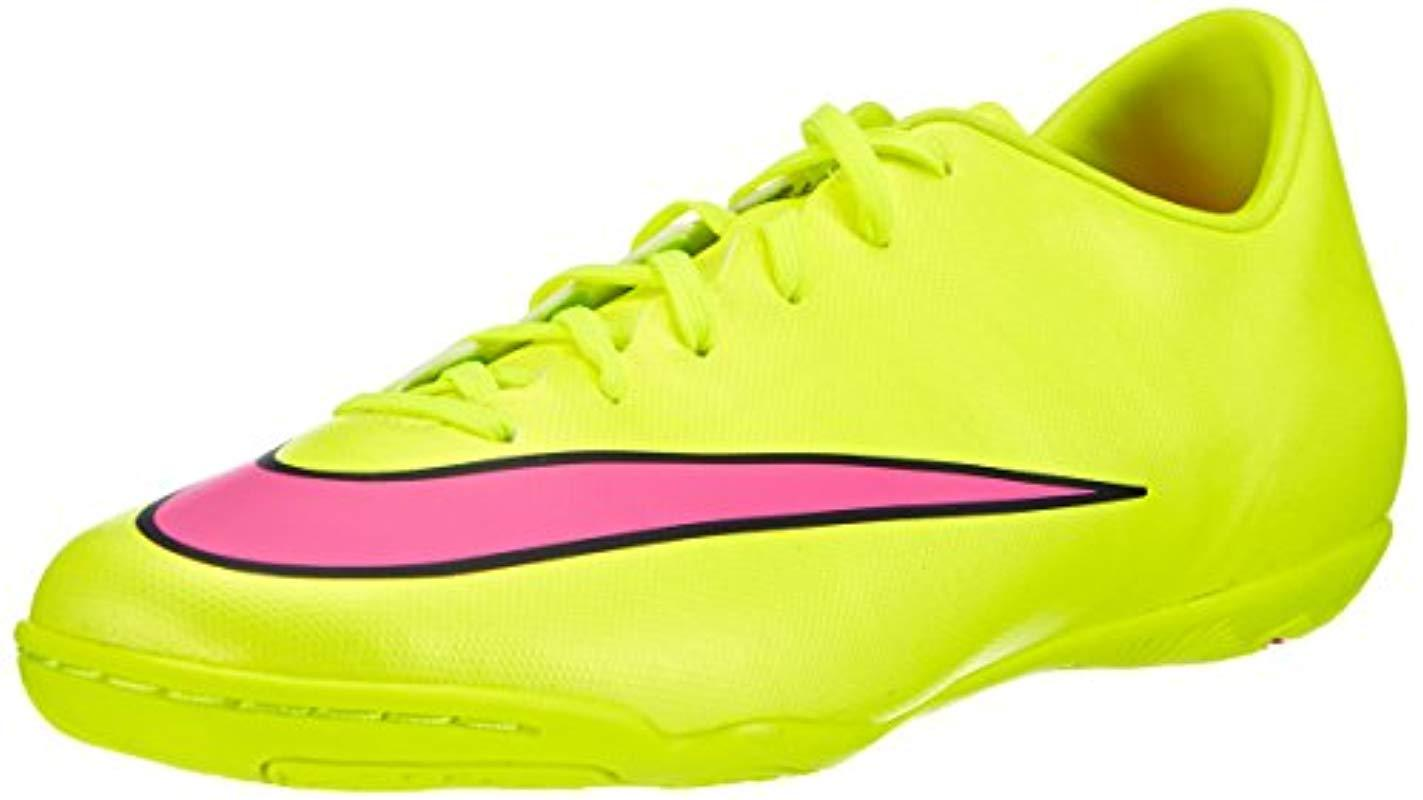 best website b7682 54f83 Nike. Men s Yellow  s Mercurial Victory V Ic Football Boots