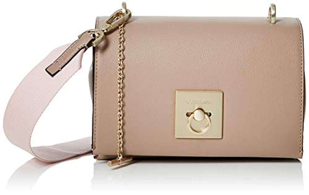 5f11ddc3a75 Calvin Klein Ck Lock Medium Flap Crossbody Cross-body Bag in Brown ...