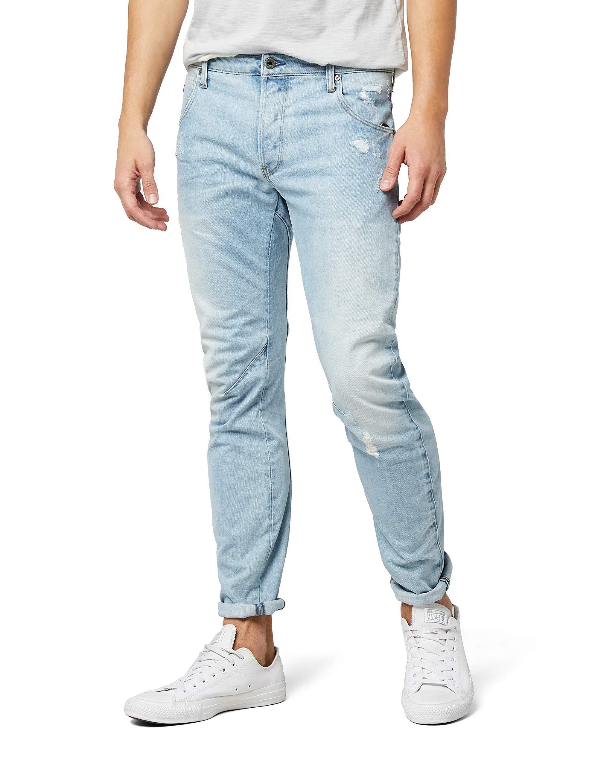 G-Star Homme Jeans Arc 3d-Slim Fit-Bleu Authentic Faded Blue STRETCHJEANS