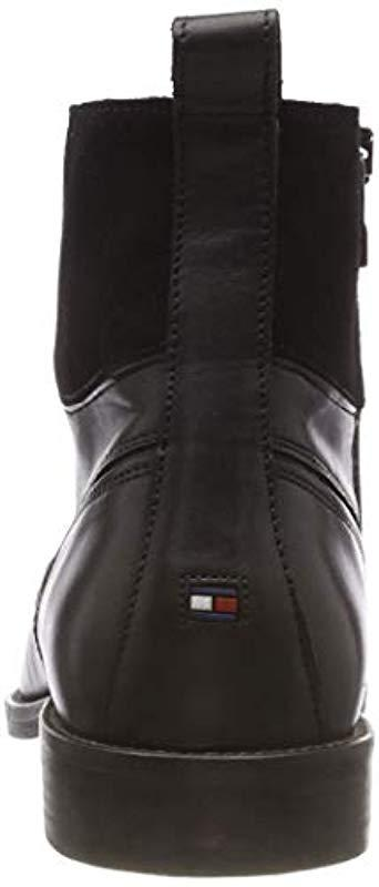 fd60407efdb32 Tommy Hilfiger - Black Essential Material Mix Boot Combat for Men - Lyst.  View fullscreen