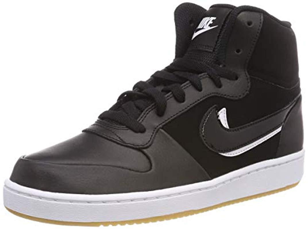 on sale 17cf0 25a73 ... basketball shoes 292a2 c9b08  ireland nike s ebernon mid premium hi top  trainers in black for men lyst 55392 bef7e