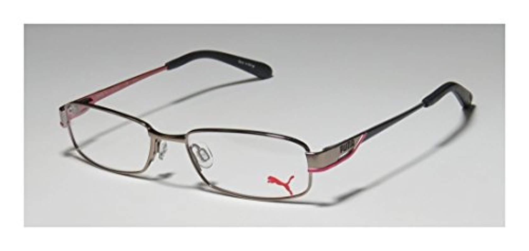 Puma 15324 Santa Fe Mens//Womens Flexible TIGHT-FIT Designed for Jogging//Cycling//Sports Activities Eyeglasses//Frame