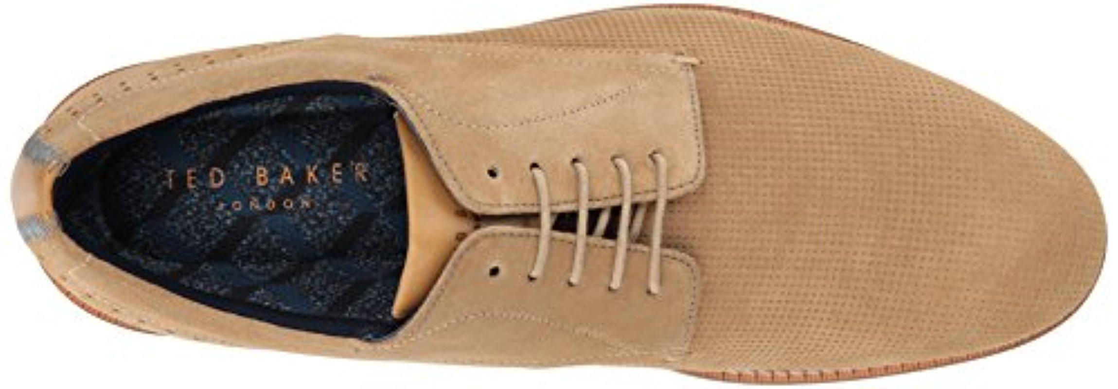Ted Baker Suede Lapiin Oxford in Sand