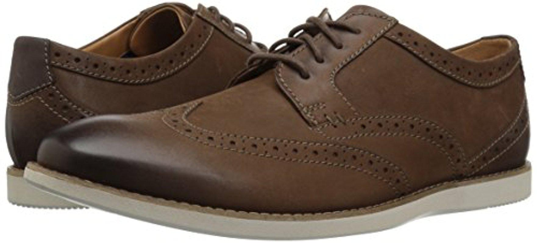 Clarks Leather Raharto Wing Shoe in