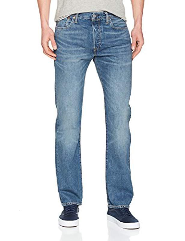 de8a7098bb3 Levi'S 501 Original Fit Straight Jeans in Blue for Men - Lyst
