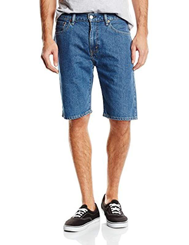 07106c0a Levi's 505 Regular Fit Shorts in Blue for Men - Lyst