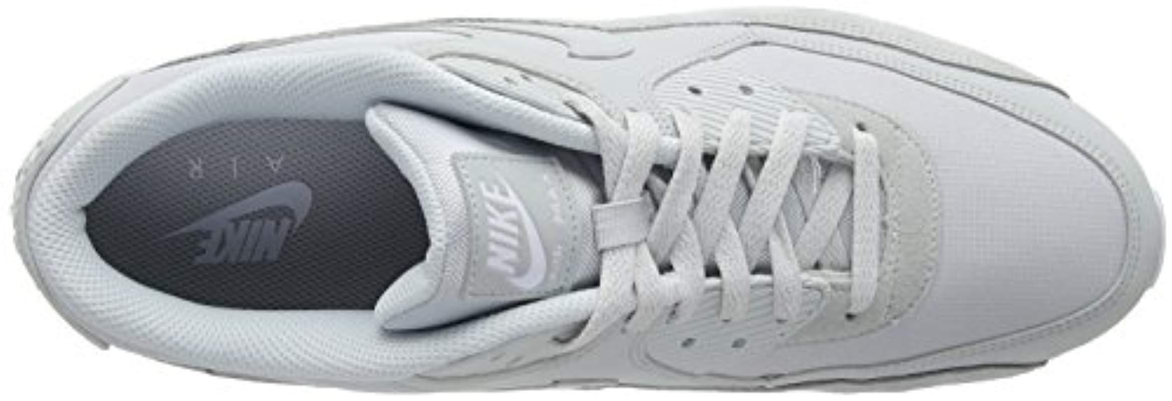 Nike Leather Air Max 90 Essential Gymnastics Shoes in Grey (Grey) for Men