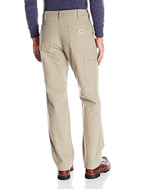 17ec83a31043 Lyst - Carhartt Relaxed Fit Washed Duck Work Dungaree Pant in Natural for  Men - Save 3%