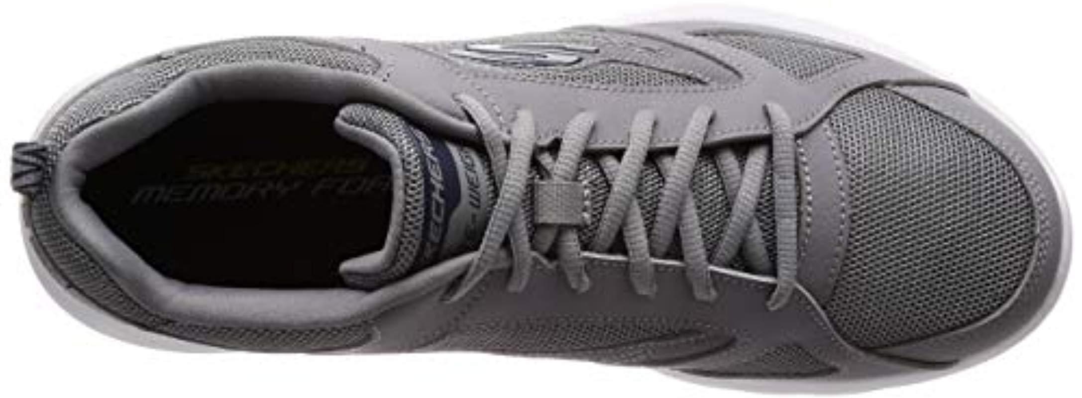 Dynamight 2.0-fallford, Zapatillas para Hombre, Gris (Gray Leather/Mesh/PU/Trim Gry), 40 EU Skechers de hombre