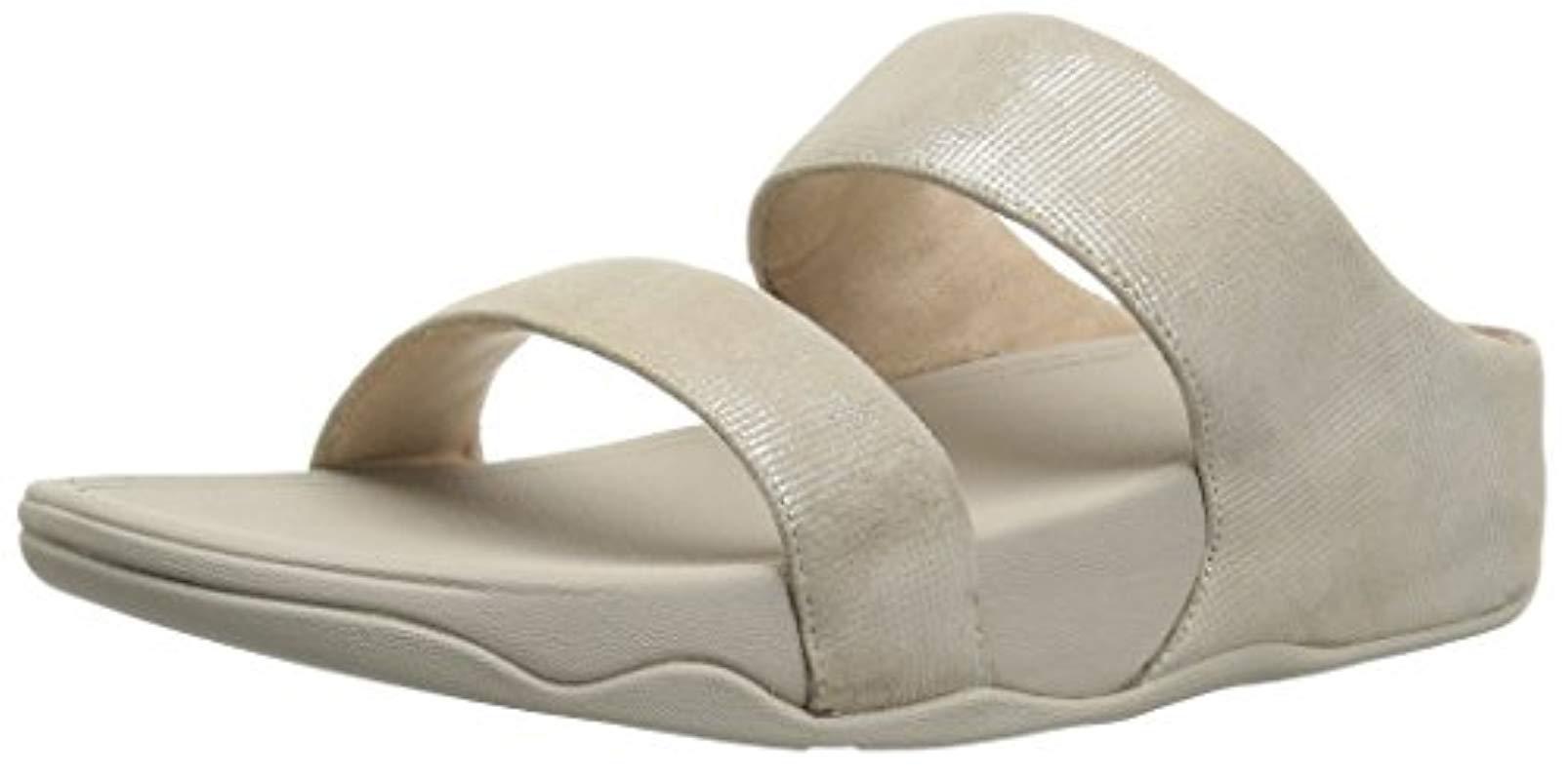 a49e91dc2 Fitflop. Women s Lulu Slide Shimmer-check Open Toe Sandals