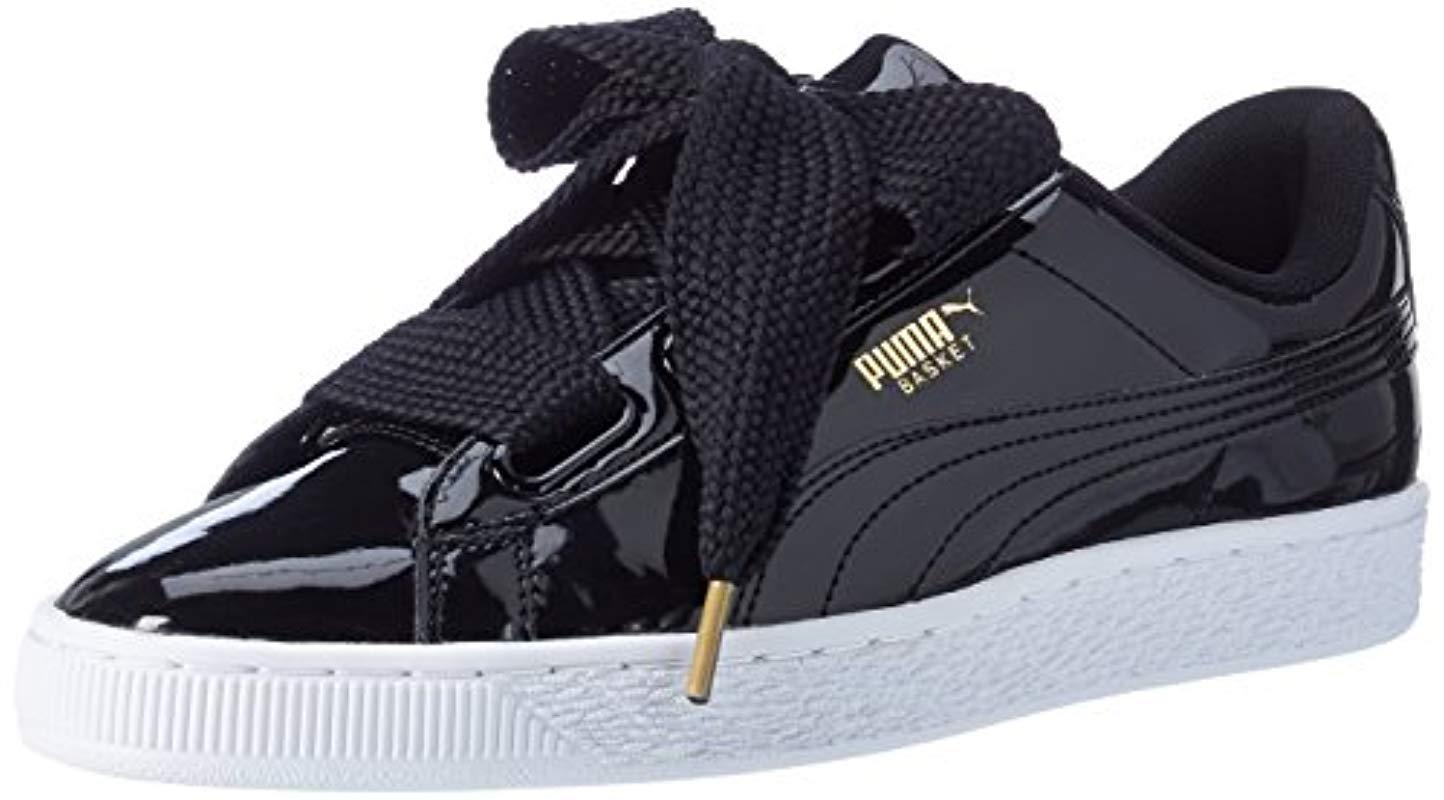 best sneakers e9f22 7e8dd Women's Black Basket Heart Patent Low-top Trainers