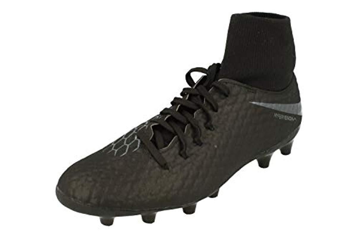 online retailer ca4f0 1e170 Nike - Black Unisex Adults  Hypervenom 3 Academy Df Ag-pro Low-top. View  fullscreen