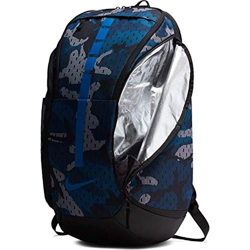 Nike Synthetic Hoops Elite Pro Camo Basketball Backpack in Blue for Men