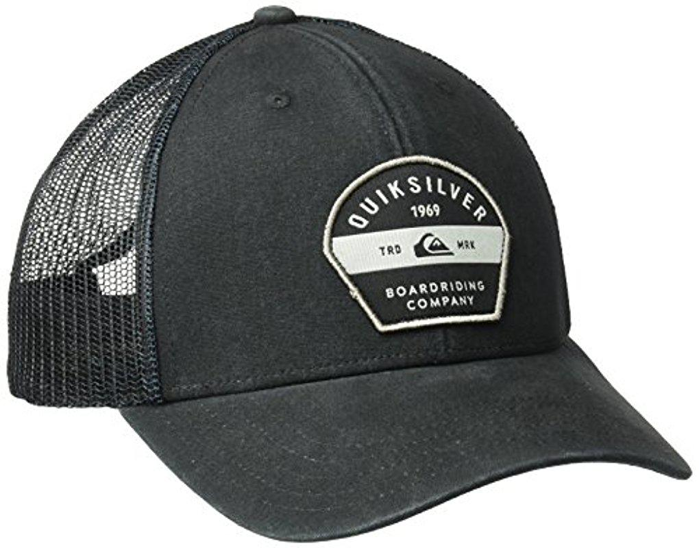 18f06dfff37 ... discount lyst quiksilver silver lining hat in black for men 54808 acfe5
