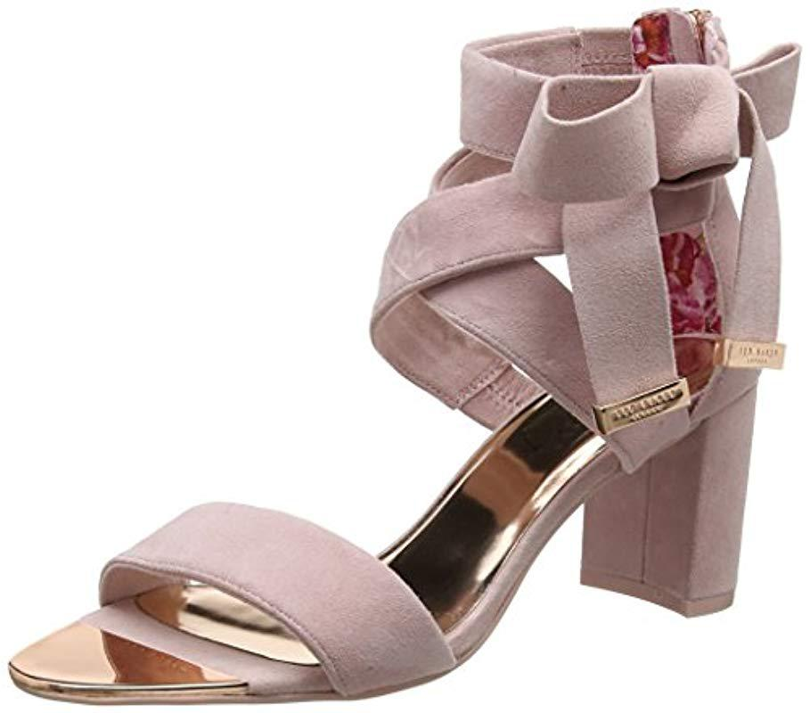 329422623c61 Ted Baker Noxen 2 Ankle Strap Sandals in Pink - Lyst