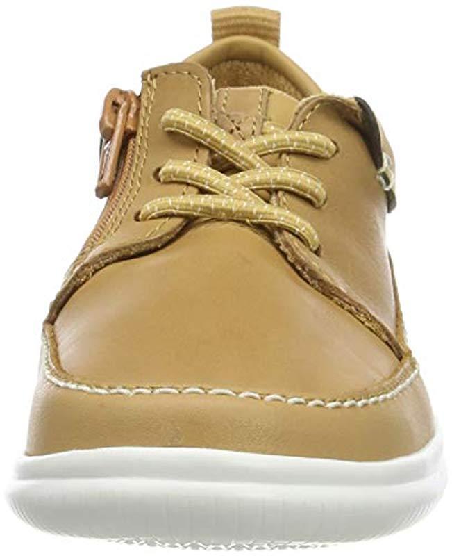 Cloud Blaze K, Zapatos de Cordones Derby para Niños Clarks de hombre de color Marrón