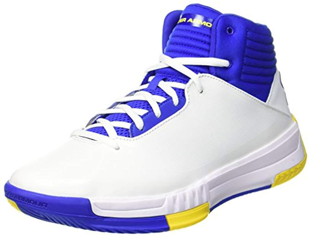 f1aecc5804ee Under Armour Ua Lockdown 2 Basketball Shoes in White for Men - Lyst