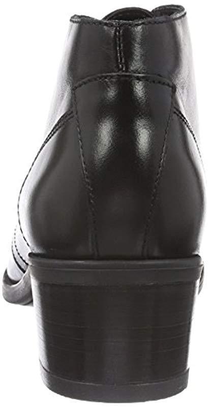 Calne Olivia - Botas cortas para mujer Clarks de color Negro