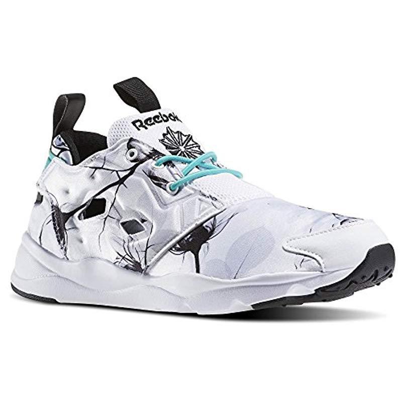 c029eda41f2 Lyst - Reebok Furylite Graphic Fashion Sneaker in White