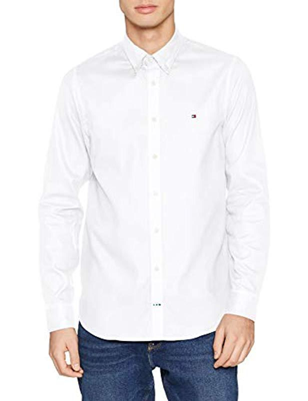 027b644b1c34 Tommy Hilfiger Slim Cellular Dobby Shirt Casual in White for Men - Lyst