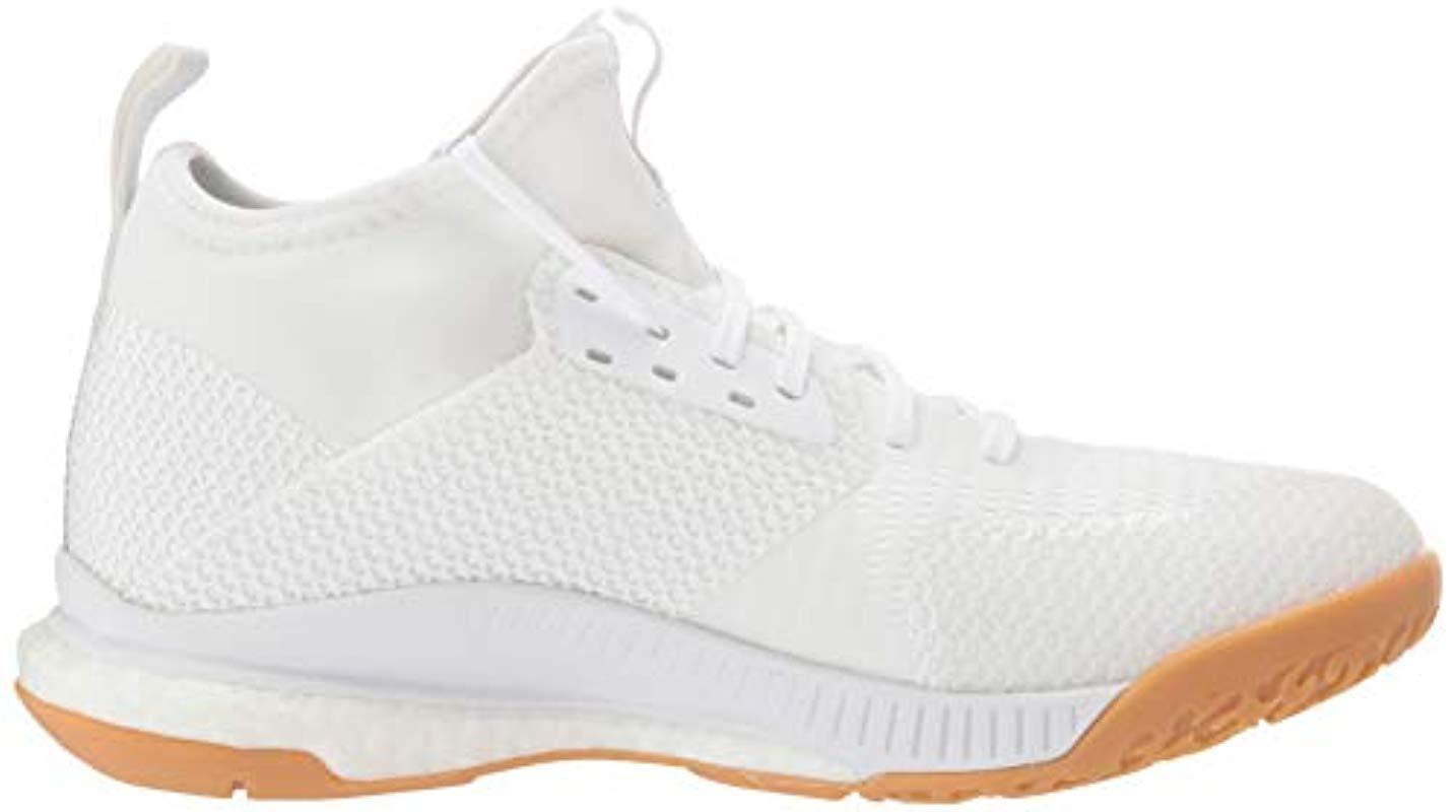 Women's White Crazyflight X 3 Mid Volleyball Shoe