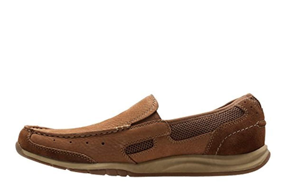Gadwell Stride Men/'s Clarks Black Leather Smart Slip On Shoes G Fit
