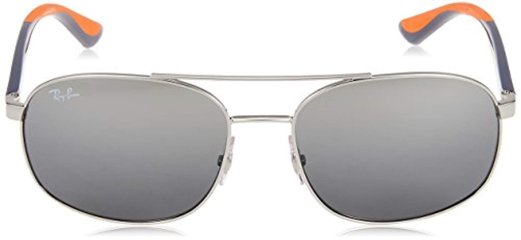 0rb3593 910188 58 Gafas de sol, Silver, Hombre Ray Ban de