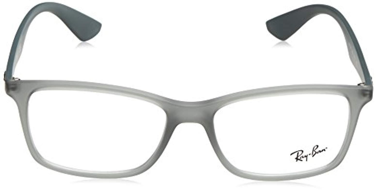34c221ec16 Ray-Ban - Gray Rx7047 Eyeglasses for Men - Lyst. View fullscreen