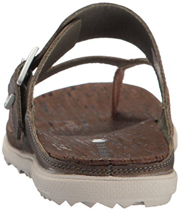 c1ab3ae9a265 Lyst - Merrell Around Town Thong Buckle Sandal