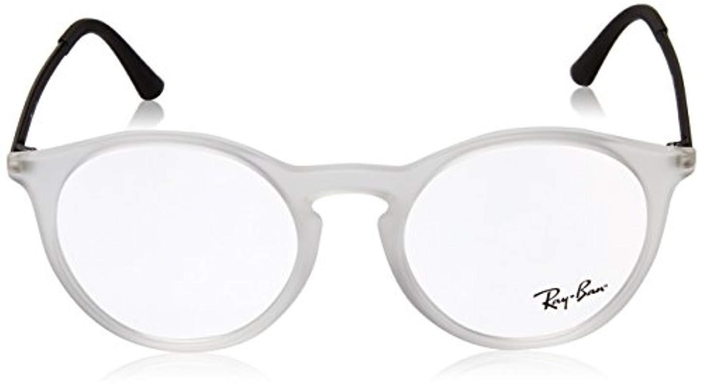Ray-Ban Rayban 0rx 7132 5781 48 Optical Frames, Rubber Transparent ... c4f64de852fb