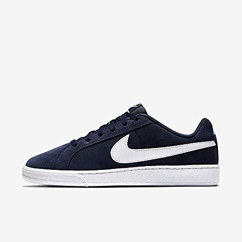 tumor falda Respeto a ti mismo  Nike Court Royale Suede Sneakers in Blue (Midnight Navy/White) (Blue) for  Men - Lyst