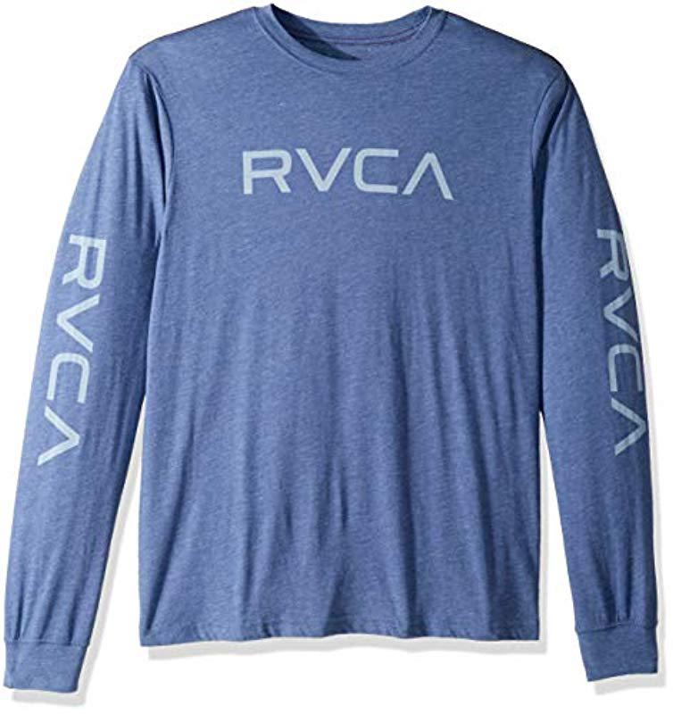 297adae1a RVCA - Blue Big Long Sleeve T-shirt for Men - Lyst. View fullscreen