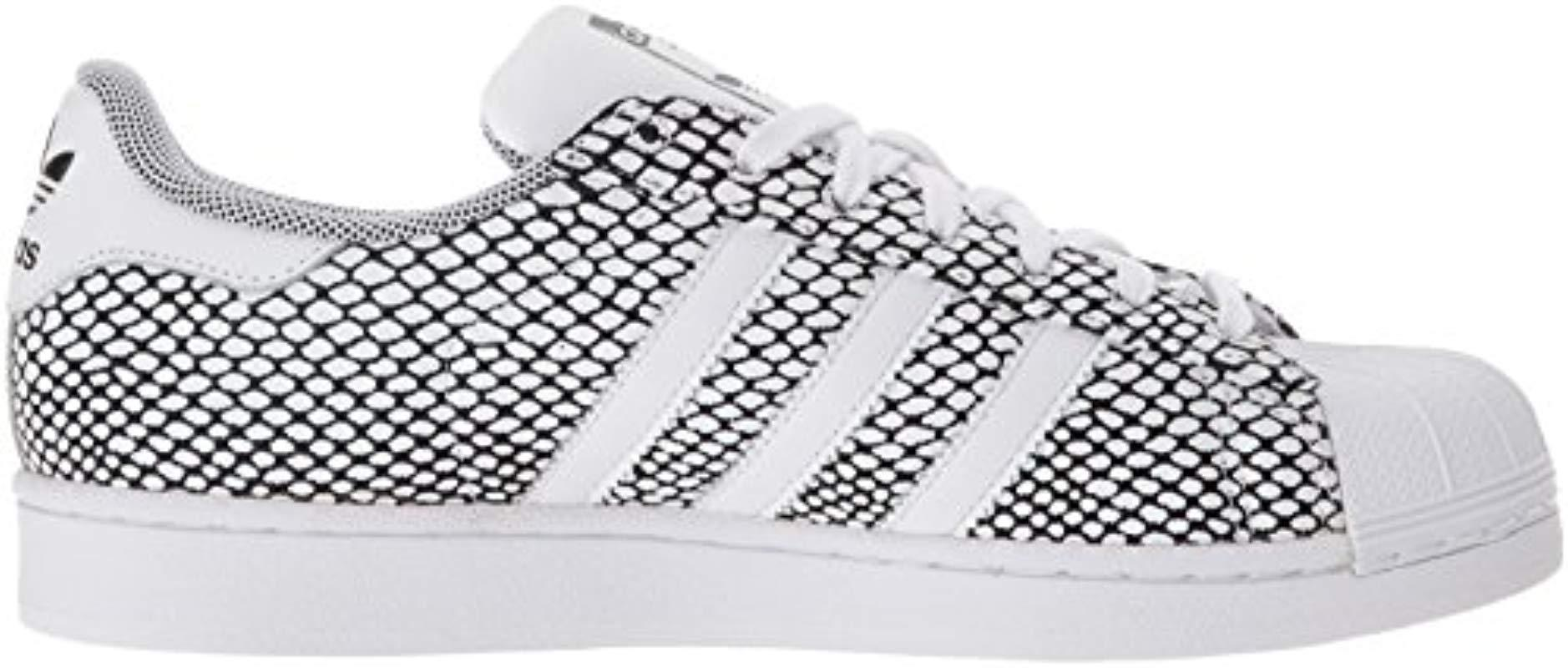 adidas Originals Leather Superstar Snake Pack Fashion Sneaker in ...