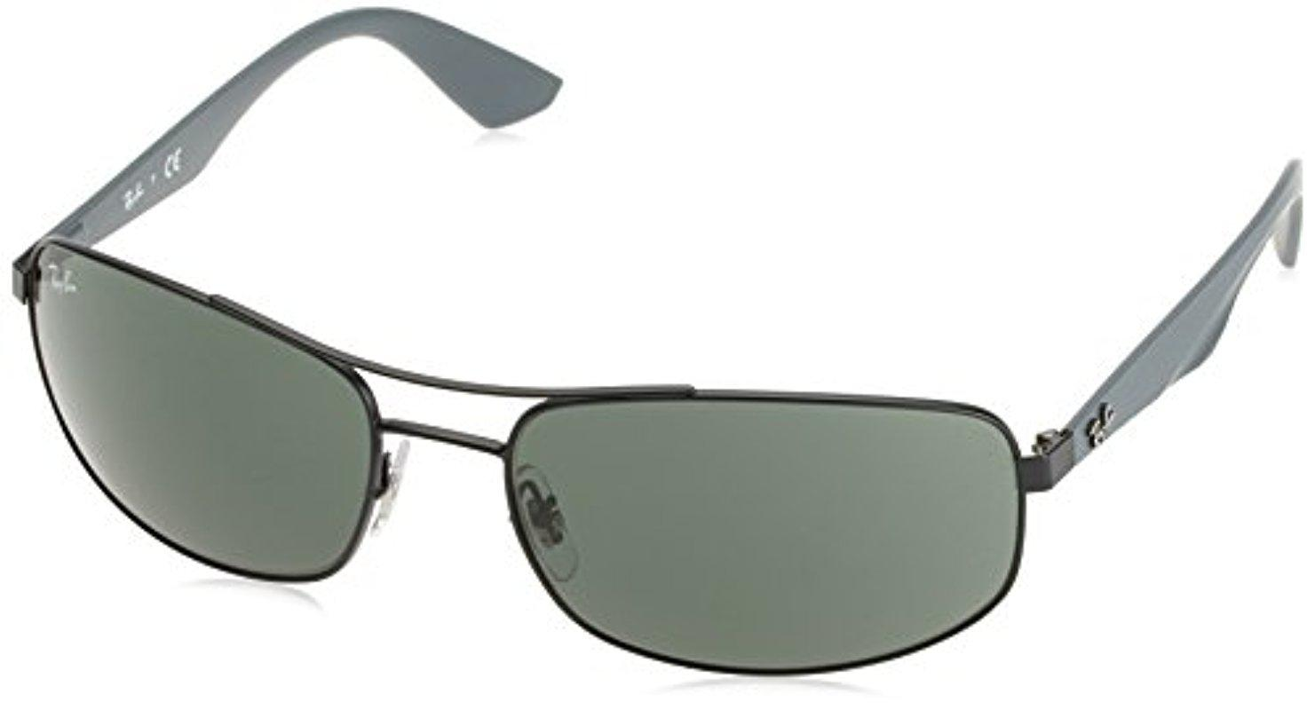 13883a5639 Lyst - Ray-Ban Metal Man Sunglass - Matte Black Frame Grey Green ...
