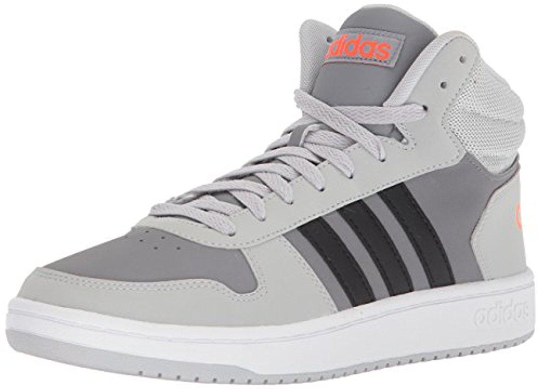 lyst adidas originali vs basket mid in grigio per salvare il 2% uomini