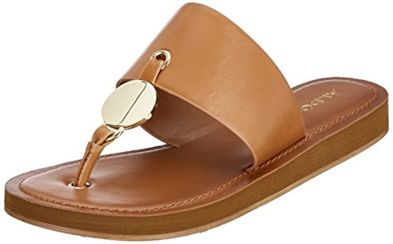 bd9cb5bebcc99c ALDO Yilania Coin Slide Sandals in Brown - Lyst
