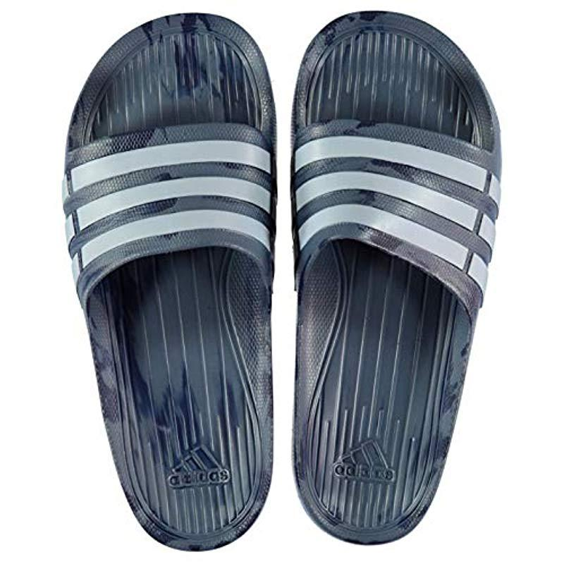 af20ed2c7c48 adidas Unisex Adult Duramo Slide Open Toe Sandals in Blue - Lyst