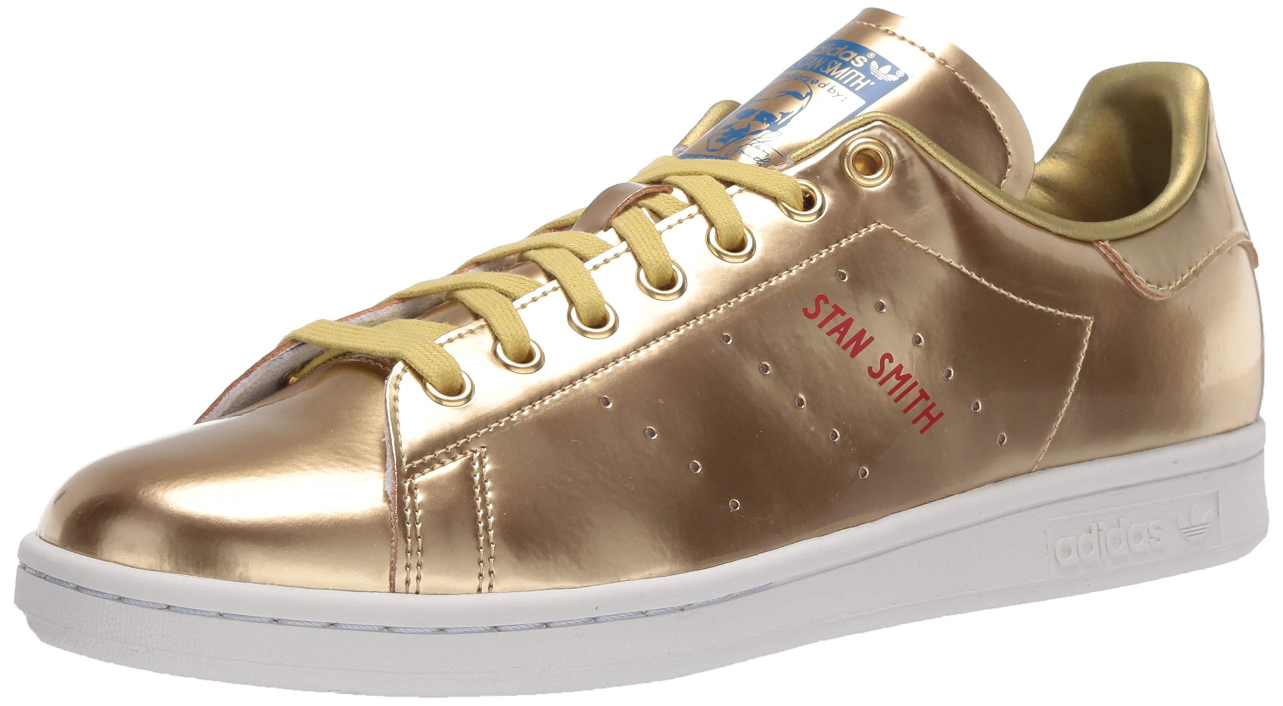 adidas Originals Leather Stan Smith in Gold/White (Metallic) for ...