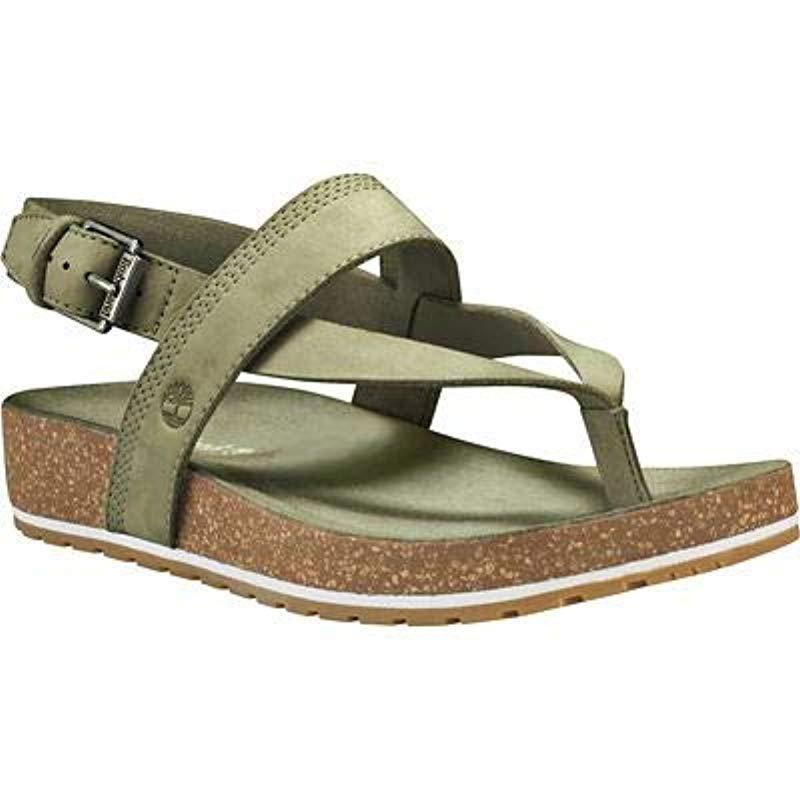 574f0ff65ca8 Timberland Malibu Waves Platform Sandals in Green - Lyst