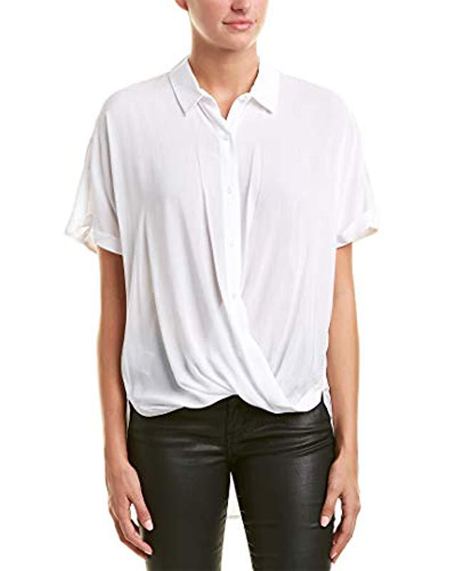 4e094e677aee Lyst - Bcbgeneration Wrap Hem Dolman Sleeve Shirt in White