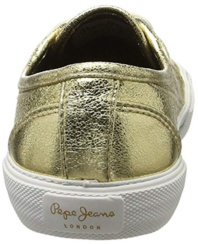 f0a7e140bec Pepe Jeans  s Aberlady Met Trainers in Metallic - Lyst