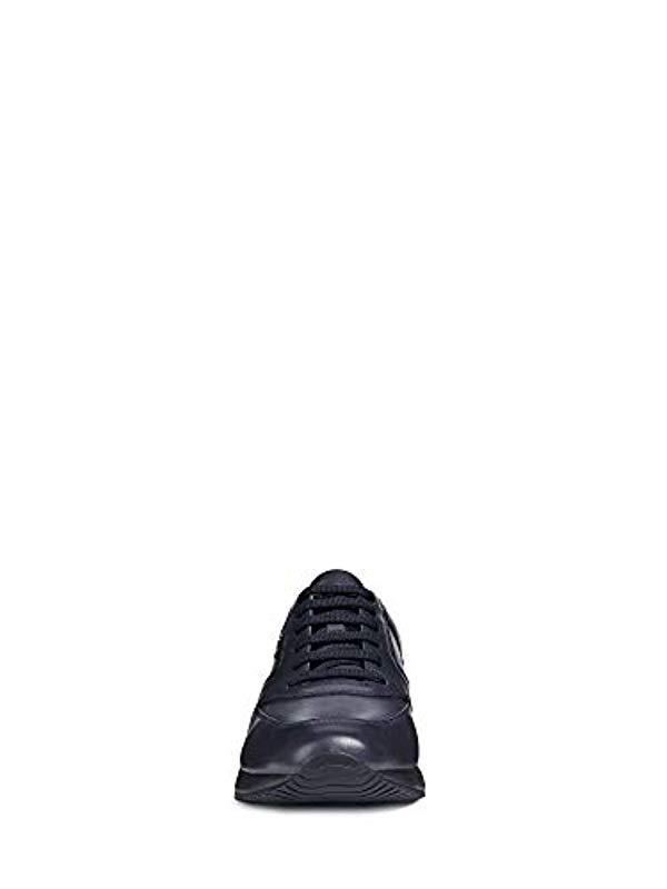 Scarpe Uomo Sneakers U Dennie In Pelle Blu U740ga 00043 c4002