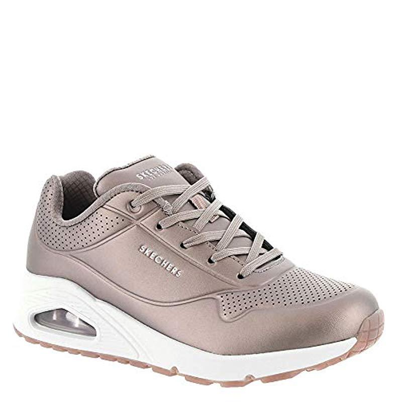 Skechers Leather Uno-rose Bold Trainers